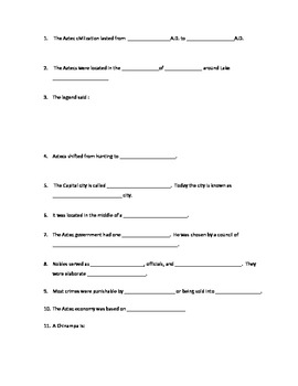 Aztec Powerpoint fill-in-the-blank- study guide