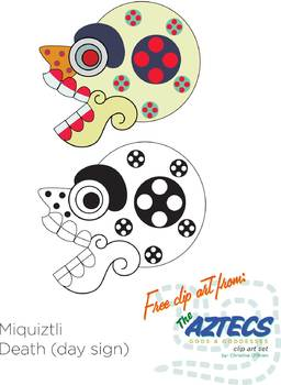 Aztec Skull Clip Art *FREEBIE*