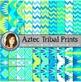 Aztec Tribal Print Digital Background Paper BUNDLE