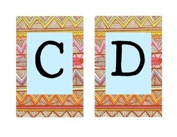 Aztec Word Wall Alphabet