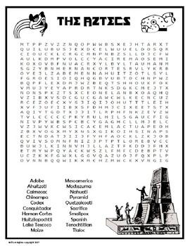Aztec Wordsearch