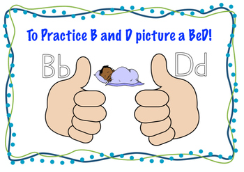 B,D and p,g Classroom Poster