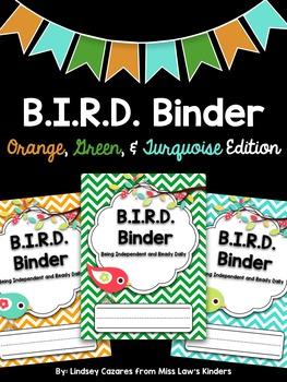 B.I.R.D. Binder: Orange, Green, & Turquoise Edition {Custo