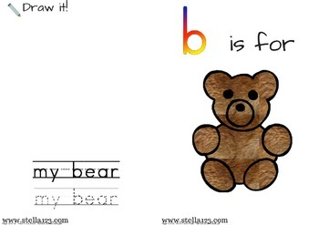 """""""B Is For Bear"""" emergent reader and coloring pages"""