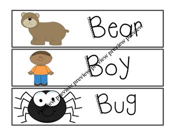 B Vocabulary Cards