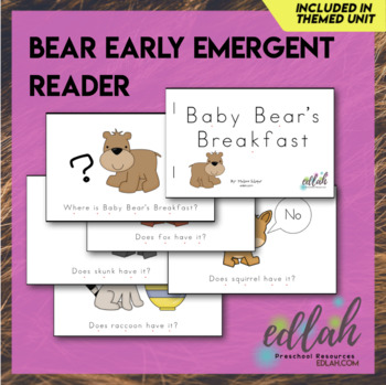 B is for Bears Early Emergent Reader