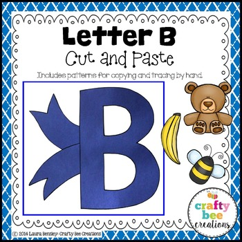 Letter B (Bow) Cut and Paste