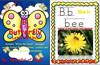 B is for Butterfly/B Like In Bee (2 Complete Letter B Units)