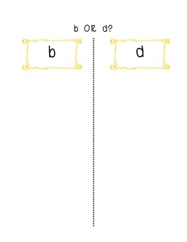 B or D Picture Sort Freebie