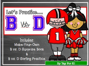 B vs. D Practice--Book and Sorting Activity
