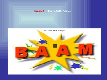 BAAM: Power Point Game - Review Vocab on Objects in the Ho