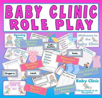 BABY CLINIC ROLE PLAY TEACHING RESOURCES EARLY YEARS EYFS