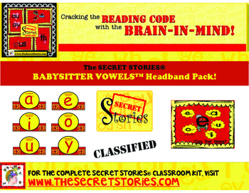 BABYSITTER VOWELS™ Headband Pack (from the SECRET STORIES®