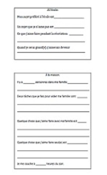 BACK TO SCHOOL ALL ABOUT ME PROJECT templates English writ