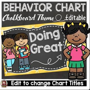 BACK TO SCHOOL EDITABLE BEHAVIOR MANAGEMENT CLIP CHART {CH
