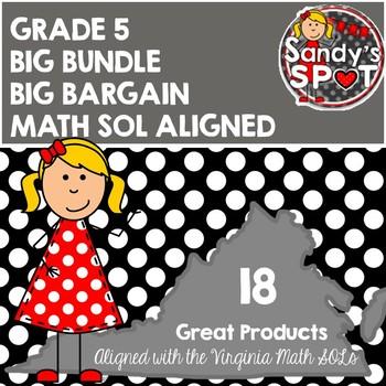 Virginia SOL Grade 5 MATH BIG BUNDLE