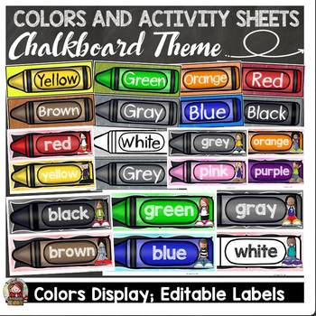 BACK TO SCHOOL CLASS DECOR {CHALKBOARD COLORS, LABELS, NO