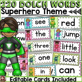 DOLCH WORD WALL CLASS DECOR {PRE-PRIMER TO GRADE 3} ICE-CR