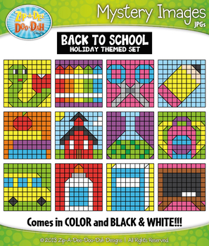 BACK TO SCHOOL Create Your Own Mystery Images Clipart Set