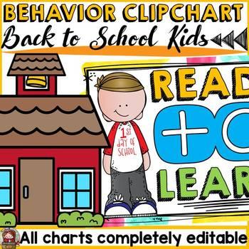 BACK TO SCHOOL EDITABLE BEHAVIOR MANAGEMENT CLIP CHART {KI