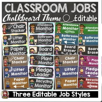 BACK TO SCHOOL - EDITABLE CLASSROOM JOBS AND NAME LABELS{C