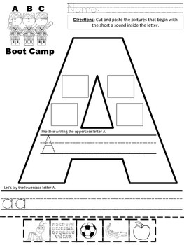 BACK TO SCHOOL FREEBIE ABC Bootcamp Sort 'N Write