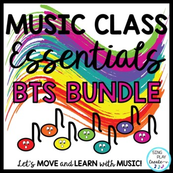 Back to School Music Class Curriculum with Songs,Chants,Ga