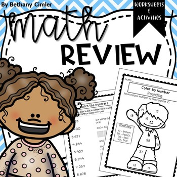 BACK TO SCHOOL Math Review Worksheets