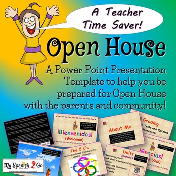 BACK TO SCHOOL: OPEN HOUSE-a Power Point Template for your
