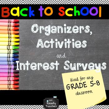 BACK TO SCHOOL SUPERPACK - For Upper Grades!
