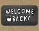 BACK TO SCHOOL Welcome Burlap and Chalkboard Banner/Pennant