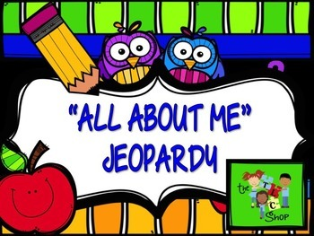 "FREE! ""All About Me"" Jeopardy"