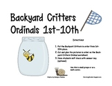ORDINAL NUMBERS: BACKYARD CRITTERS