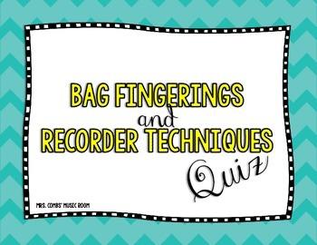 BAG Recorder Quiz
