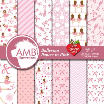 Ballet Digital Papers - Ballerina Papers and backgrounds AMB-111