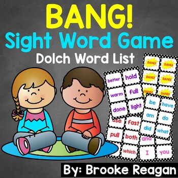 BANG! Editable Sight Word Game (Dolch Words)