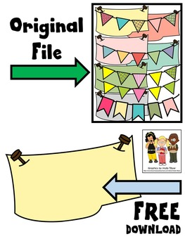 BANNER CLIP ART FREEBIE * COLOR AND BLACK AND WHITE