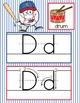 BASEBALL - Alphabet Cards, Handwriting, ABC Flash Cards, A