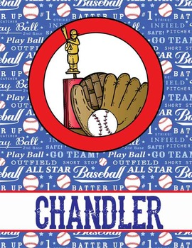BASEBALL - Binder Covers / MS Word, you personalize