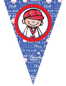 BASEBALL - Triangle Banners, EDITABLE