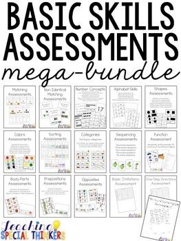 BASIC SKILL ASSESSMENTS MEGA-BUNDLE FOR SPECIAL EDUCATION