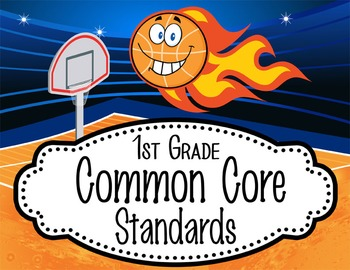 "BASKETBALL kid - 1st Grade Common Core Standards ""I CAN"" f"