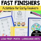 Early Finishers Book for Kindergarten!
