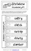 BATS and SPIDERS Comprehension Suffix Contractions Task Ca
