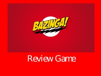 BAZINGA Review Game Template