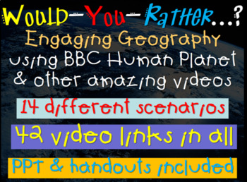 BBC Would You Rather (14 engaging lessons) PPTs, hyperlink