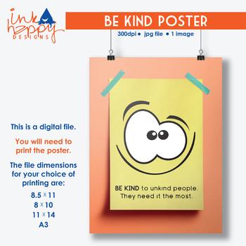 BE KIND POSTER printable files