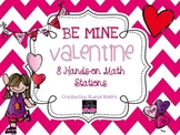 BE MINE VALENTINE MATH STATIONS