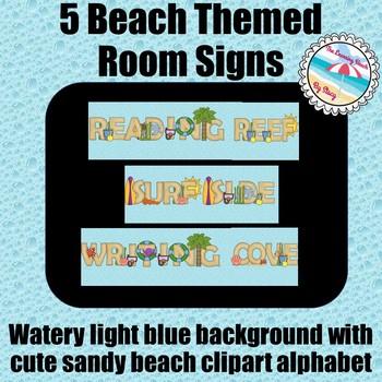 BEACH Theme Classroom Signs
