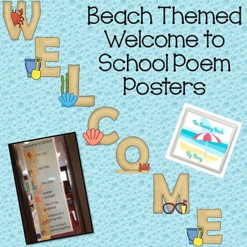 BEACH Welcome Sign {Welcome Poem for Students}